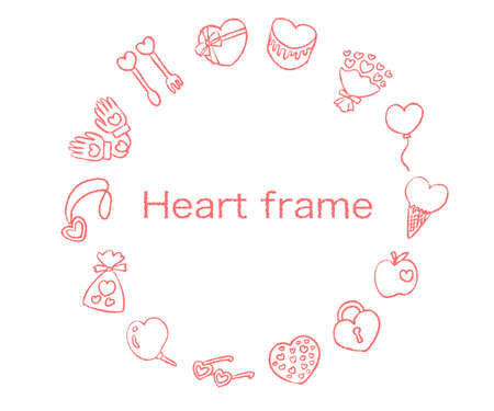 Pink heart frame for text