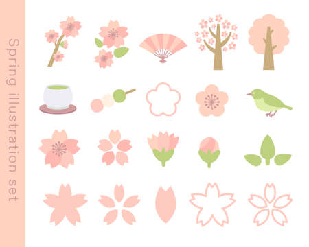 Spring illustration set