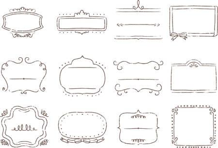 Handwritten frame faint illustration image
