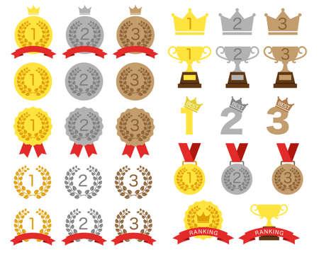 Various rankings / icon sets Ilustração