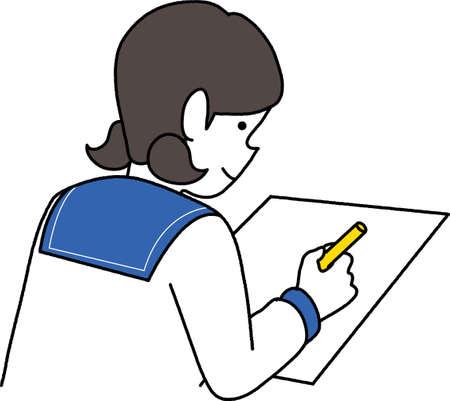 Students solving problems 02 Ilustracja