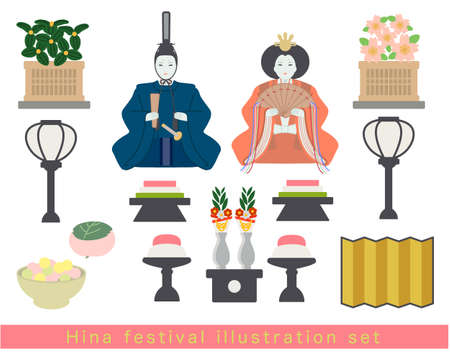 March 3 Doll's Festival Illustration Set