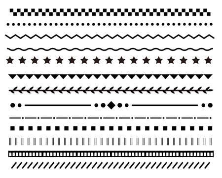 Various ornament line illustration set Vetores