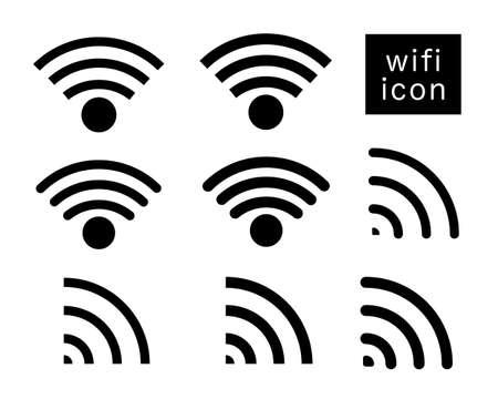 wifi silhouette vector icon