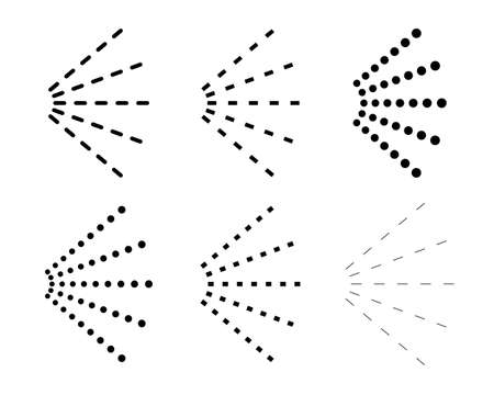 Emission line set / black and white symbols