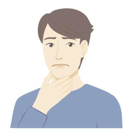 Illustration of a man / oriented 矢量图像