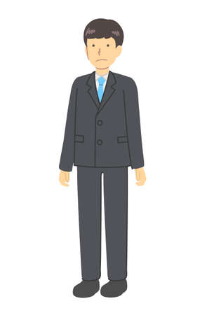 A man in a standing suit