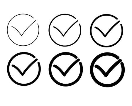 Check icon set/vector Vettoriali