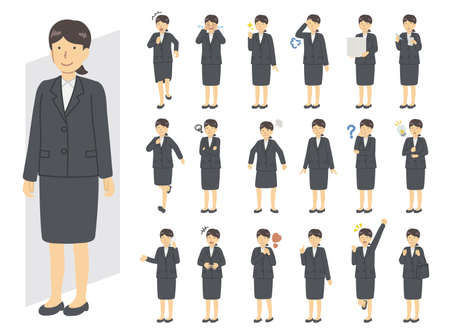 Illustration of a woman in a suit 向量圖像