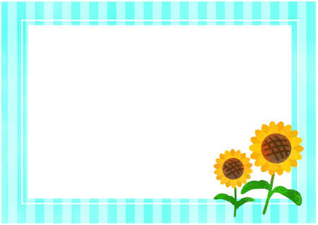 Sunflower and Stripes Background / Vector