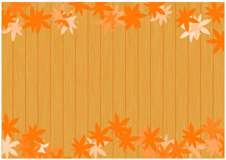 Autumn Leaves Background / Vector