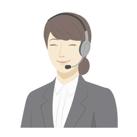 Illustration of a woman / smile