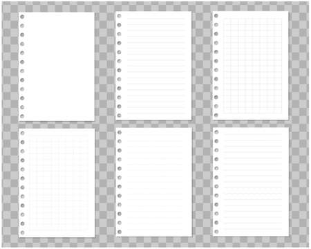 Notebook Illustration Material Set / Vector