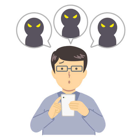 Illustration of a student being talkative