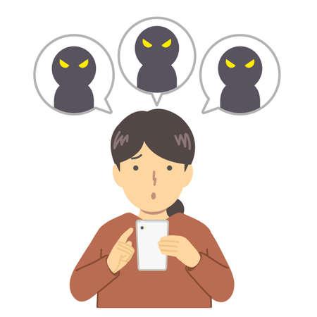 Illustration of a student being talkative Ilustración de vector