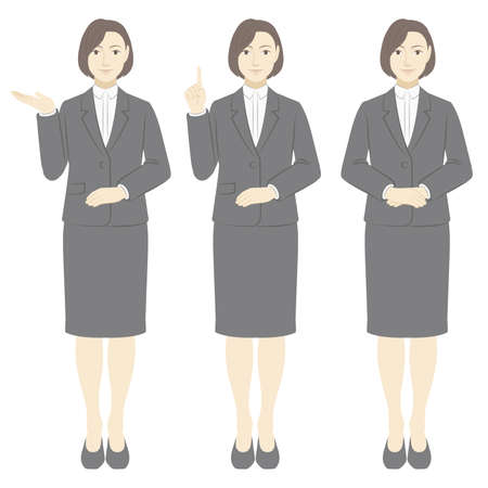 Women's Set of Suit Closures / whole body