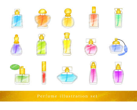 Perfume Illustration Set / analog style