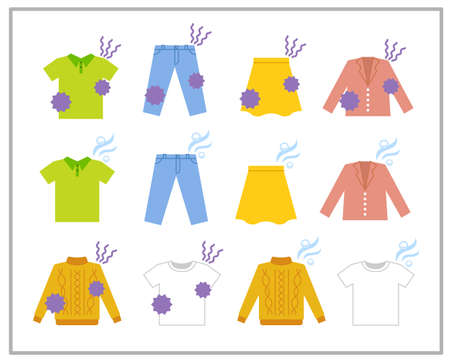 Scent trouble illustration set of clothes Illusztráció