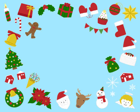 Christmas illustration material set / vector Ilustração