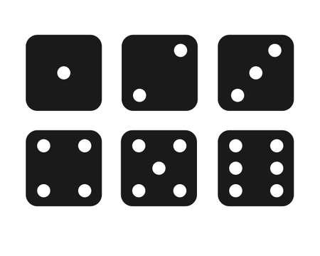 Dice illustration set material / vector 矢量图像