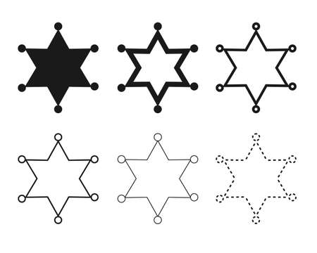 Star iconillation set / vector