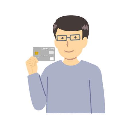 Male illustration / credit card