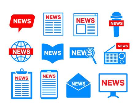 News icon illustration set: Vector