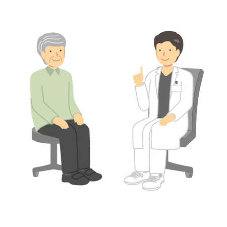 Senior man consulting at the hospital