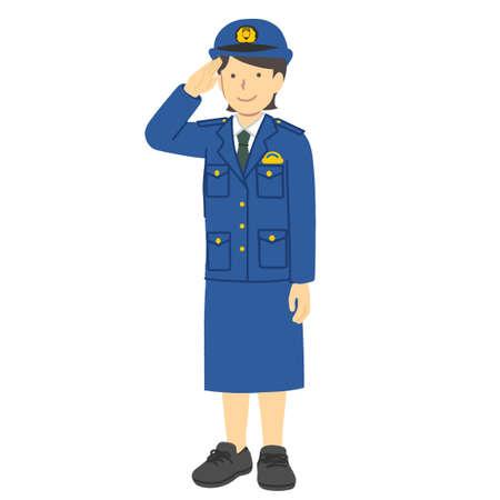 Female police officer illustration