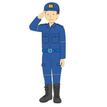 Male police officer: Police dispatch clothes Vector Illustratie
