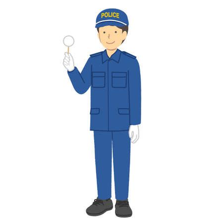 Male police officer: Special clothing: Forensic activities
