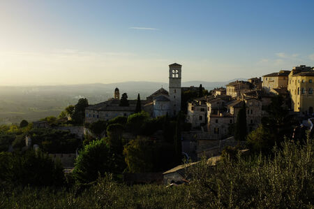 st  francis: View of Assisi in autumn Stock Photo