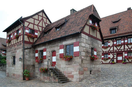 pitched roof: Nuremberg Castle Editorial