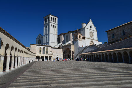 st  francis: Front view of the Basilica of St  Francis of Assisi Editorial