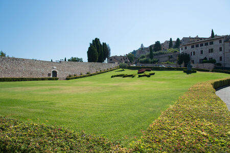st  francis: Lawn of the Basilica of St Francis, Assisi