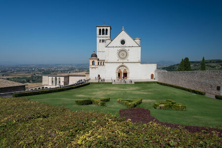 st  francis: front view of the Basilica of St  Francis of Assisi