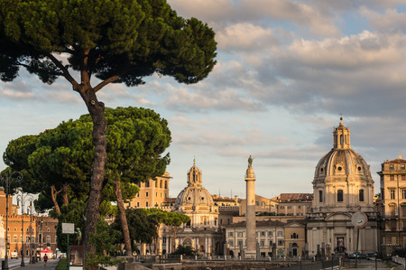 forums: Rome - Imperial Forums Stock Photo