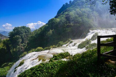 terni: Marmore Falls in Central Italy Stock Photo