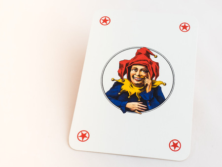 Joker playing cards on white background Stock Photo