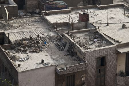 degradation: The roofs of the Cairo Stock Photo
