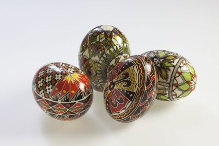 rumanian: Eggs decorated of the Rumanian tradition Stock Photo