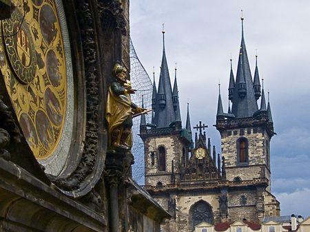 praga: Public square on the towen hall to Praga