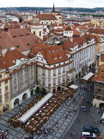 praga: Public square of the to town hall to Praga