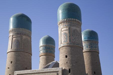 Samarcanda el minarete de la mezquita Foto de archivo
