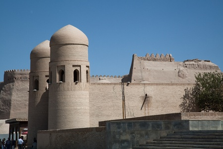 Uzbekistan The old city walls