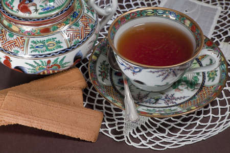 Tea in preciouse chinese porcelain