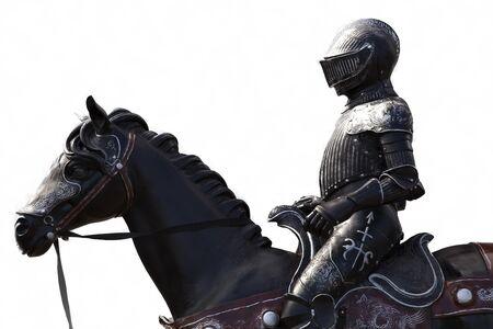 arma: Soldato medievale a cavallo Stock Photo