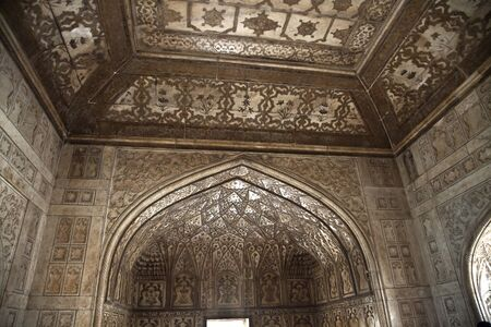 Fort of Agra, India, a room decorated