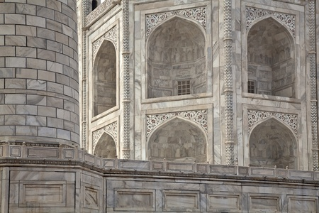 jehan: Taj Mahal, India architectonic detail Stock Photo