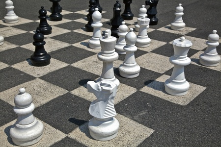 Giant chess photo